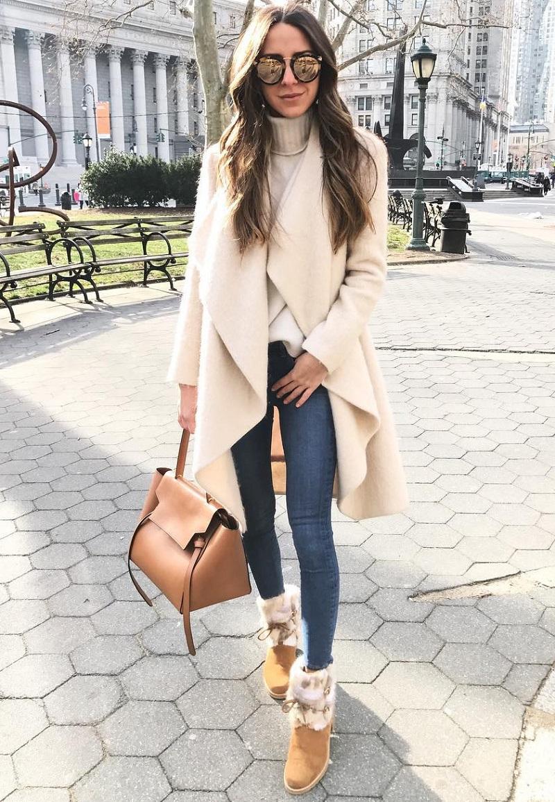 джинсы и кардиган
