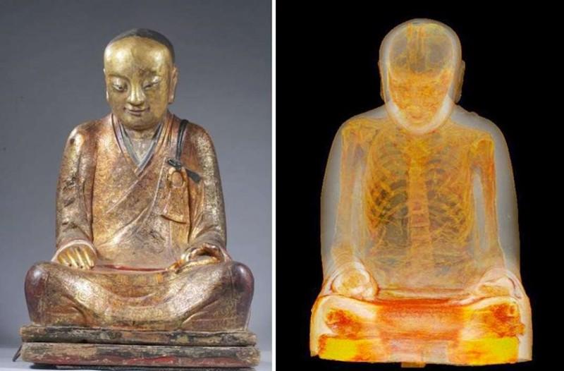 В скульптуре Будды нашли мумифицированного монаха будда, монах