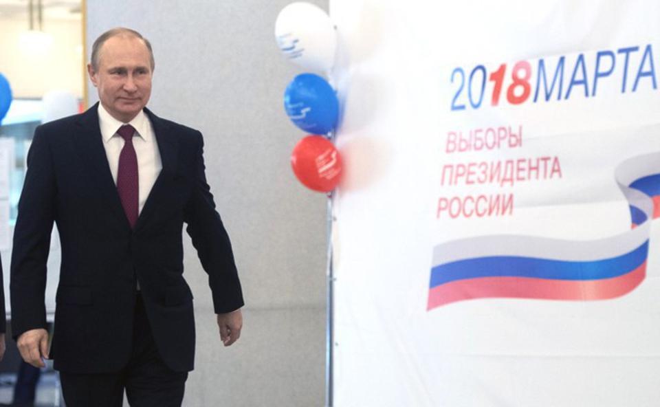 На выборах президента РФ за …