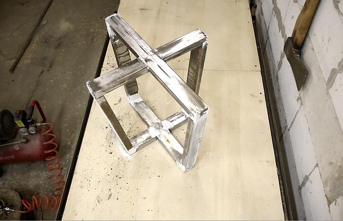 Журнальный столик из берёзового слэба своими руками