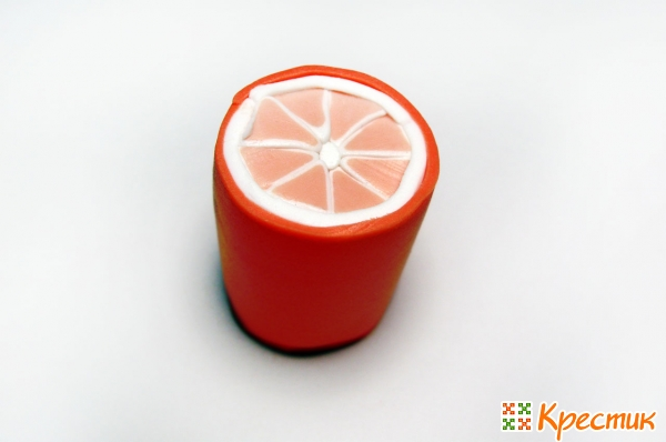Лепка из полимерной глины: фруктовая колбаска «Апельсин» глины, колбаску, колбаски, можно, оранжевый, бусины, лепки, белую, дольки, долька, поэтому, полимерной, также, колбаскуИз, апельсиновую, затем, пластом, белым, толстой, колбасу