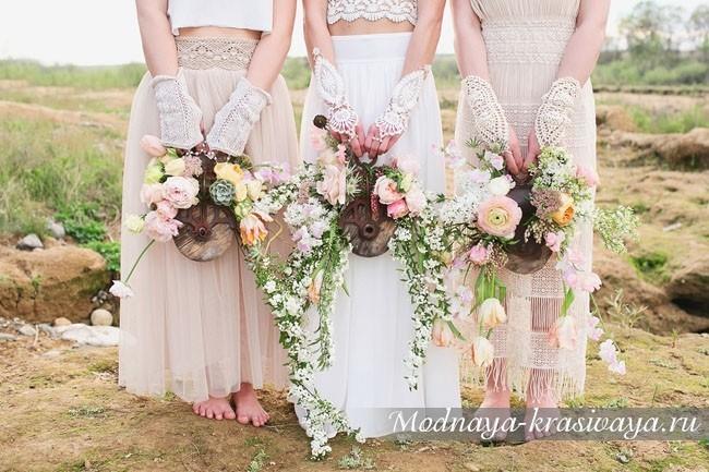 Свадебные платья в стиле Бохо - 50 красивейших фото