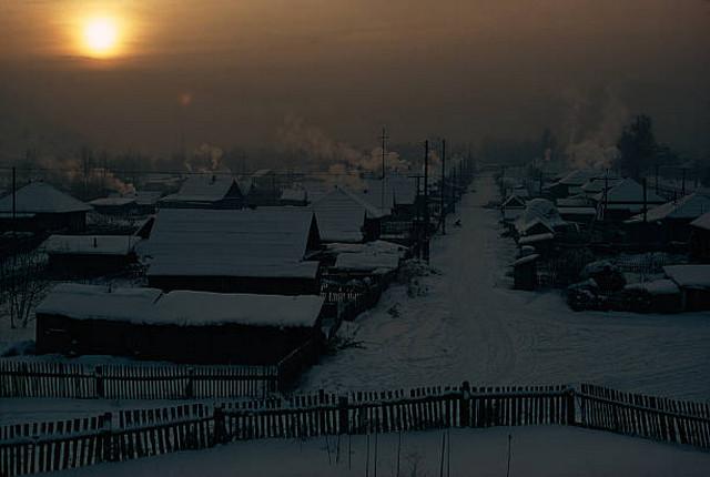 Заснеженный Горно-Алтайск в 1975 году.