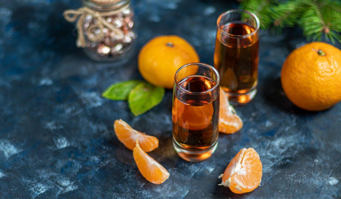 Мандариновая настойка на коньяке напитки,напитки алкогольные