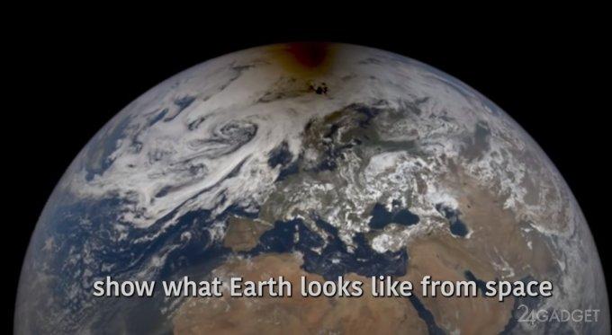 NASA показало изображение кольцевого солнечного затмения, снятое из космоса