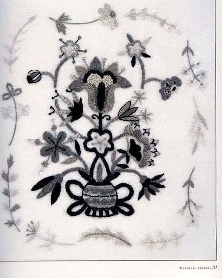 Контурная вышивка - необычно, изящно и прекрасно смотрится в интерьере