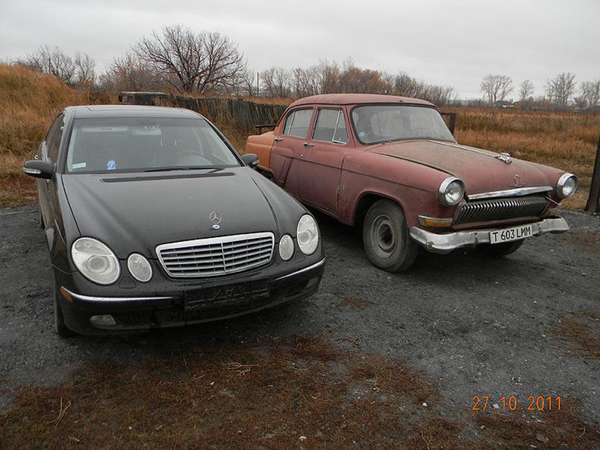 Понадобилось три ГАЗ-21 «Волга» и один Mercedes-Benz W211 E500, чтобы сделать этот проект mercedes-benz