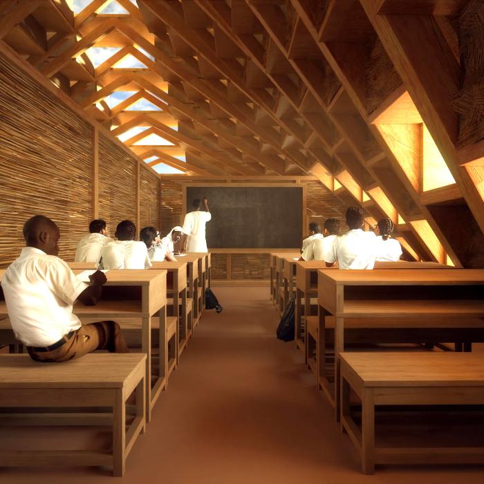 Архитекторы разработали школу из соломы для африканских детей