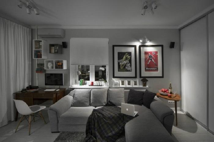 интерьер студии квартиры