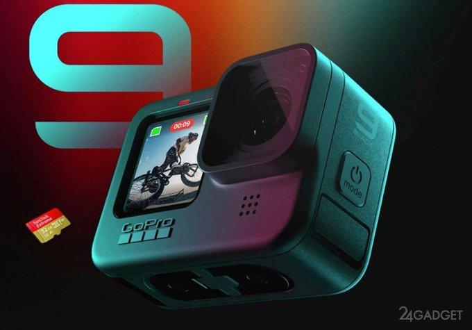 Экшн-камера GoPro Hero9 Black стоит 449 долларов и снимает 5К видео