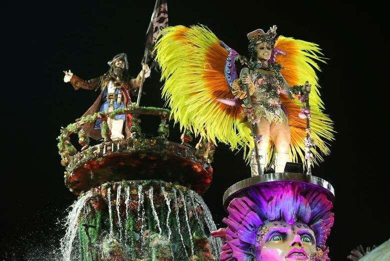 Участники школы Viradouro бразилия, в мире, карнавал, события, фото, фотоотчет, фоторепортаж