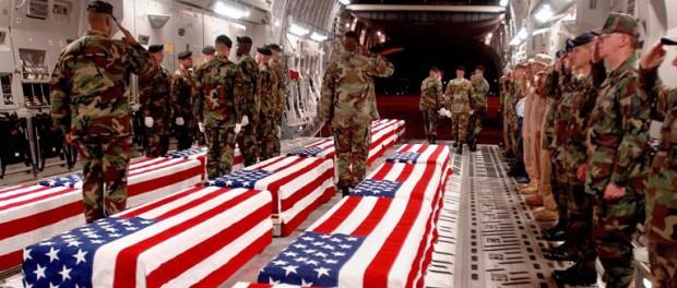 Гробы с американскими солдат…