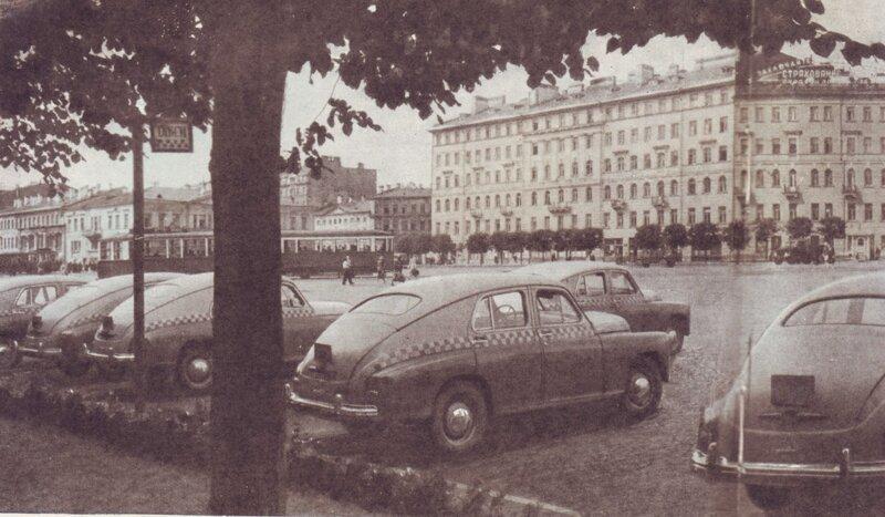 Площадь Мира (б. Сенная площадь) 1955 год, СССР, история, ленинград, факты