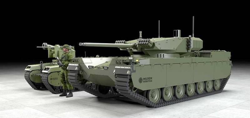 Бронемашина без экипажа: проект многоцелевого РТК Milrem Type-X