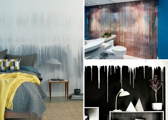 Скотч, бумага и капельки краски: быстрый и бюджетный способ преобразить комнату для дома и дачи,интерьер