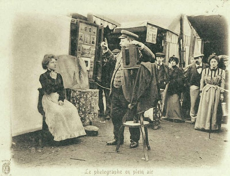 Уличный фотограф. Париж, 1900-е Весь Мир в объективе, ретро, старые фото