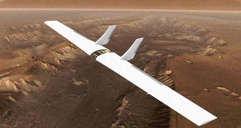 Крылатый планер будет парить над поверхностью Марса