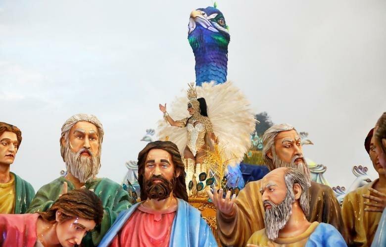 Сильные инсталляции школы Unidos da Tijuca бразилия, в мире, карнавал, события, фото, фотоотчет, фоторепортаж