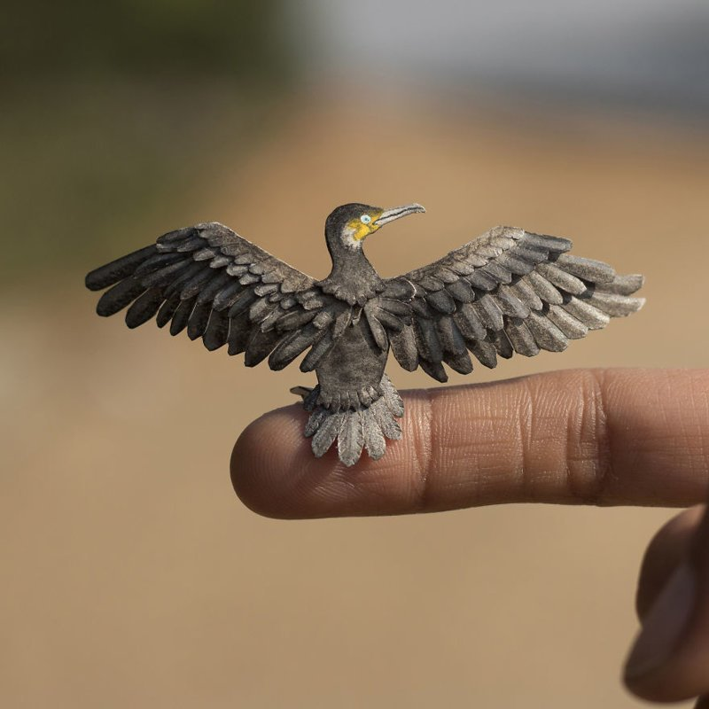 Удивительные бумажные птицы от индийских художников