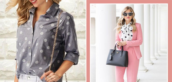Как стильно носить вещи в горошек: примеры на каждый день