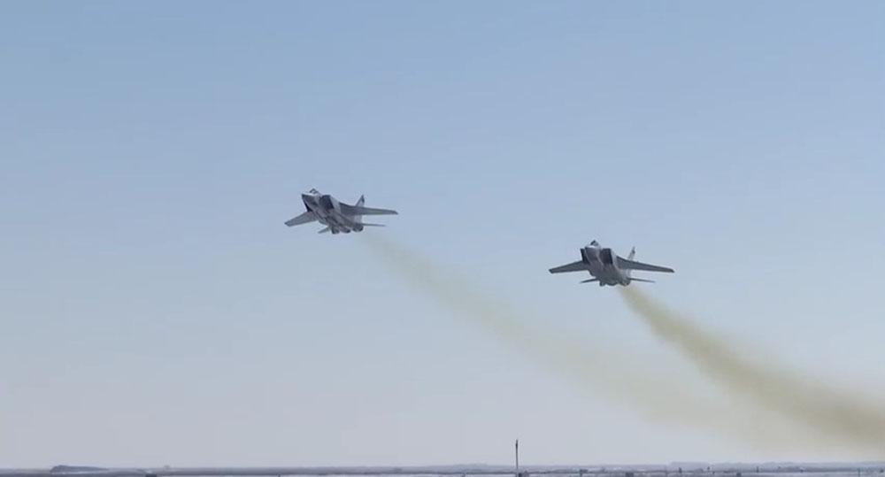 """Минобороны показали испытаний гиперзвуковой ракеты """"Кинжал"""""""