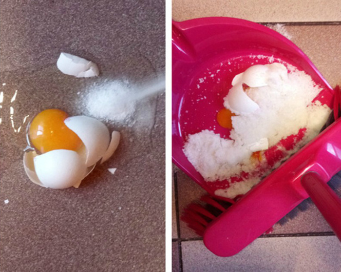 Разбитое яйцо.   Фото: Dama.bg.