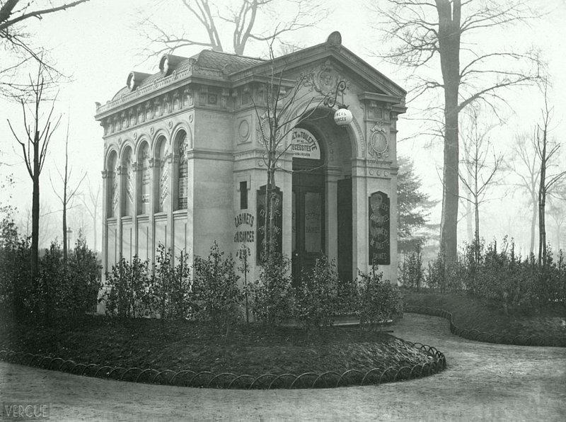 Общественный писсуар в Париже. Елисейские поля, год постройки -1874 Весь Мир в объективе, ретро, старые фото
