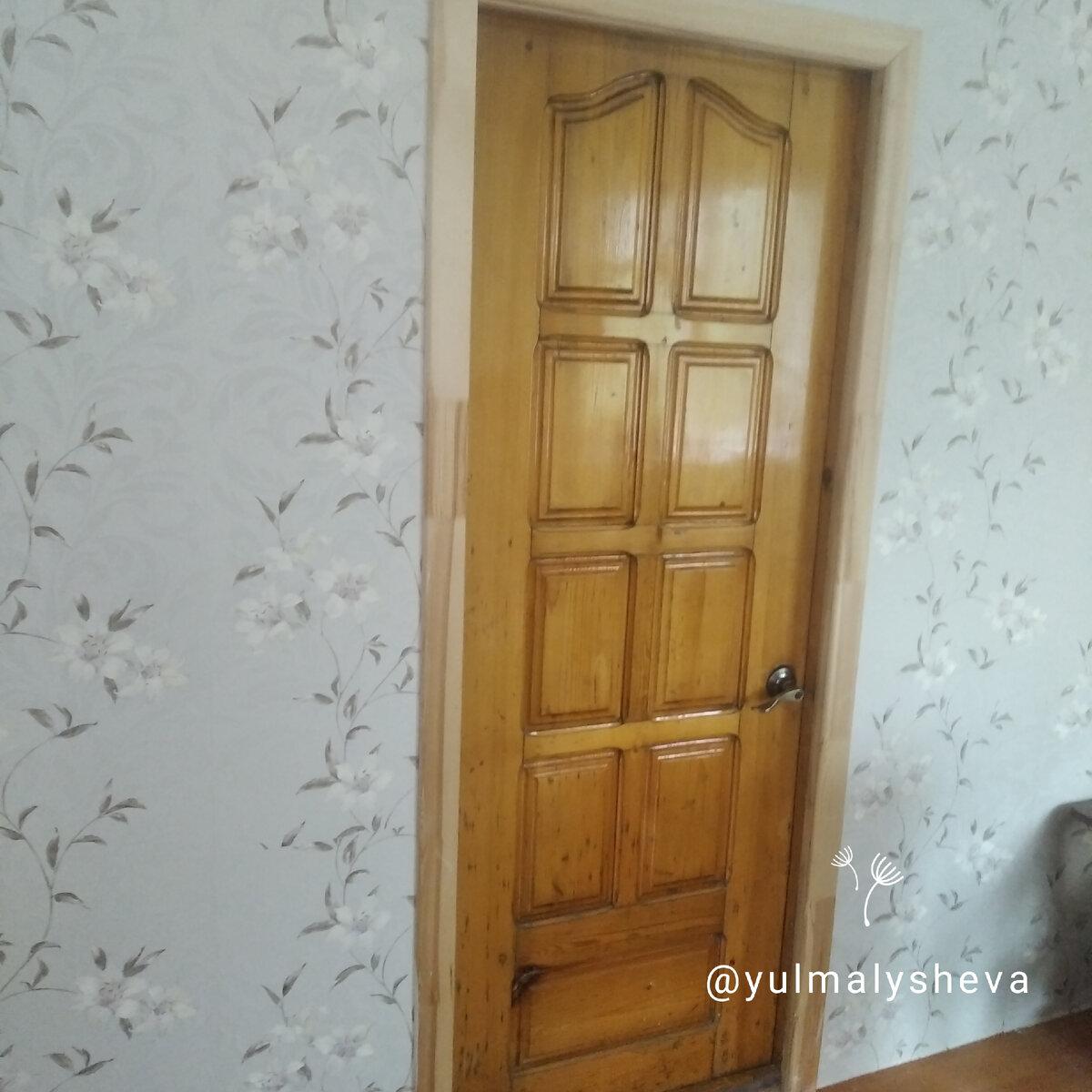 Как перекрасить старую лакированную дверь