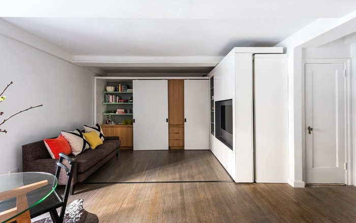 Квартира-студия от дизайнера Braden Caldwell и архитектора Michael Chen.