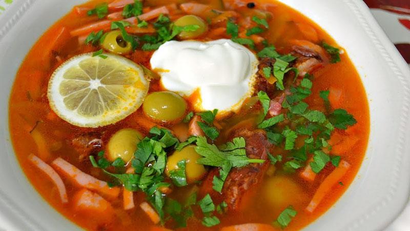 рецепт супа солянки в мультиварке
