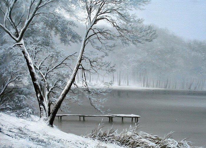Зимние пейзажи Евгения Карловича живопись