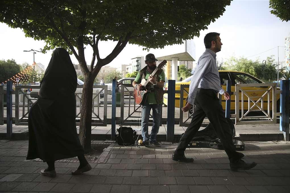 На центральной площади в Тегеране, 2018 год AP Photo/Vahid Salemi