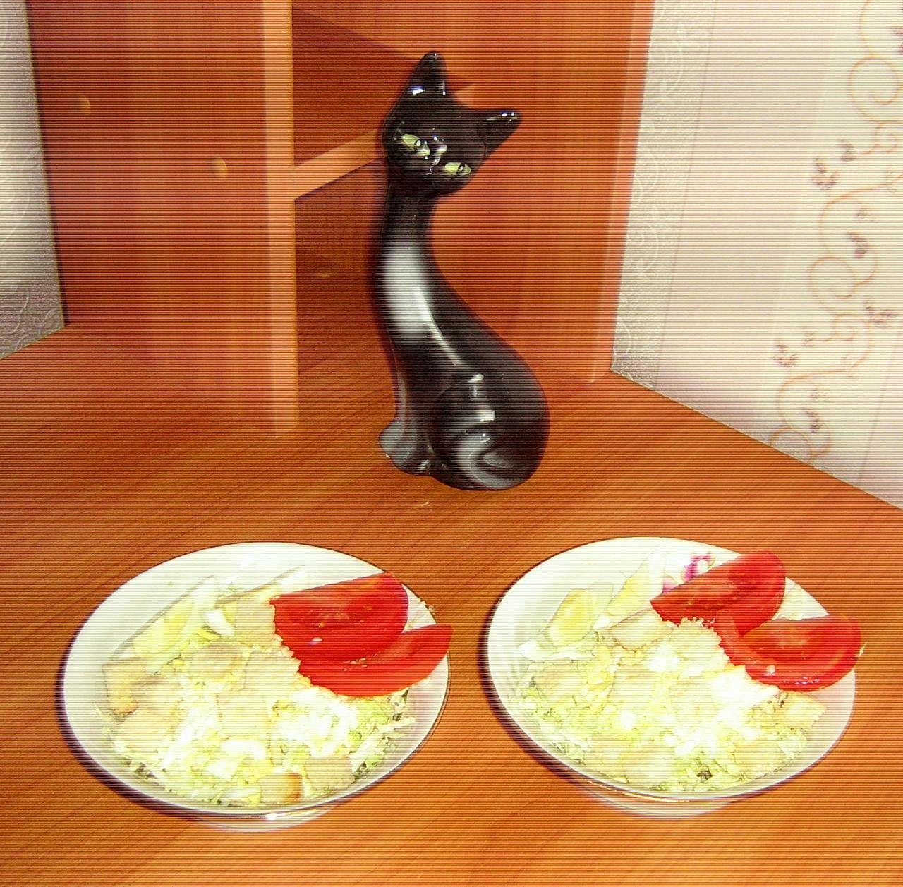 """салат """"Приятная встреча""""  или Найди курицу в капусте...Фото-рецепт  Ольга Бреус"""