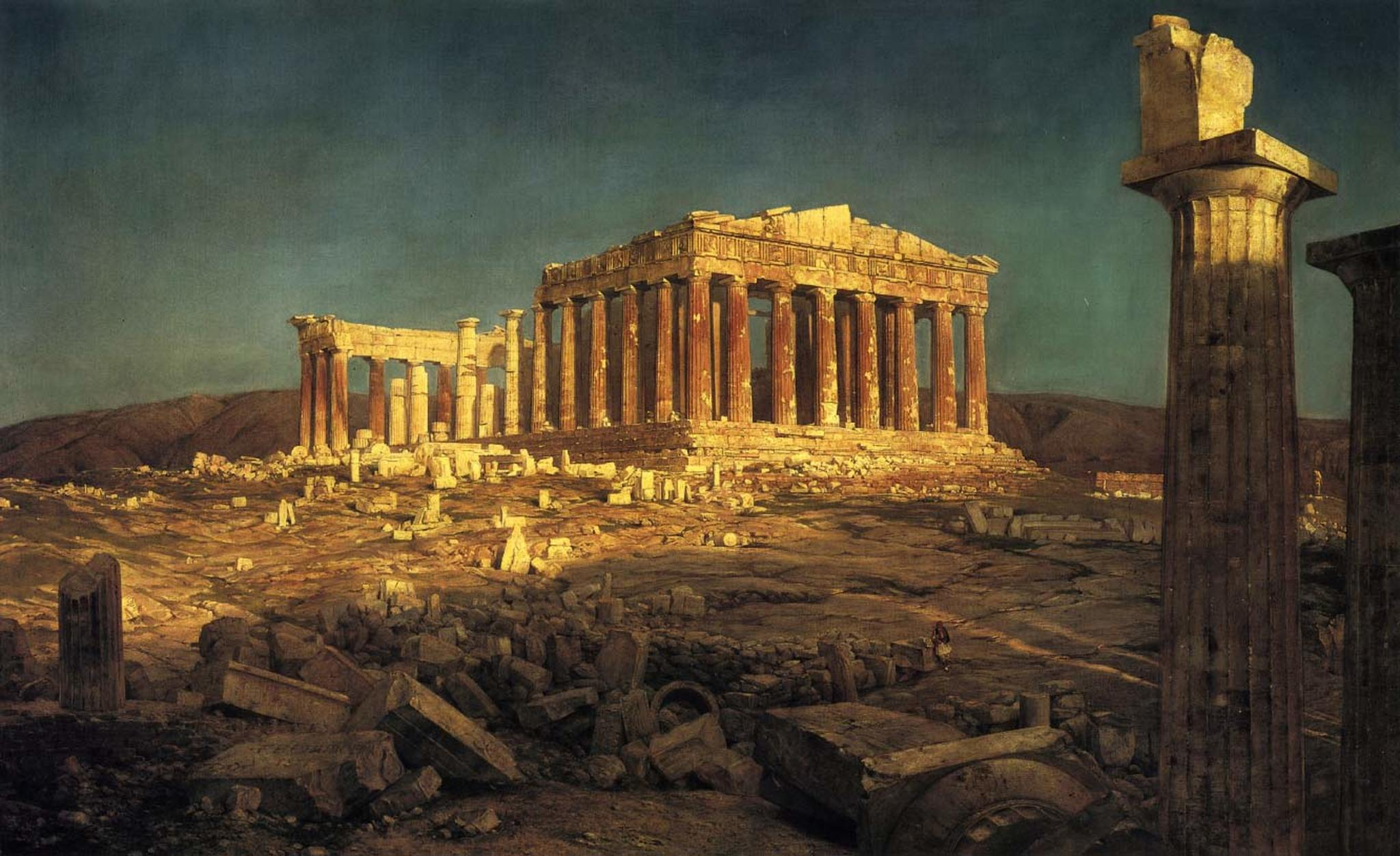 The Parthenon By Frederic Edwin Church Print or Oil Painting ...