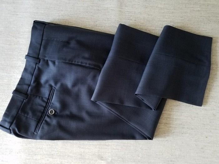 Обработка низа брюк брючной тесьмой
