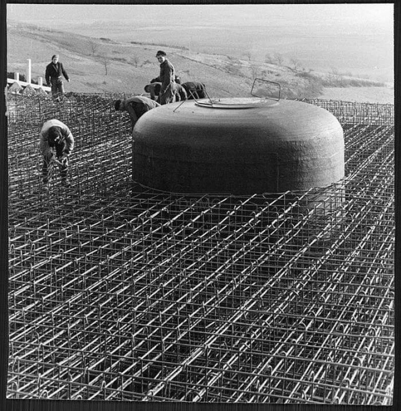 Строительство бункера где-то в Восточной Пруссии. 40-е история, ретро, фото