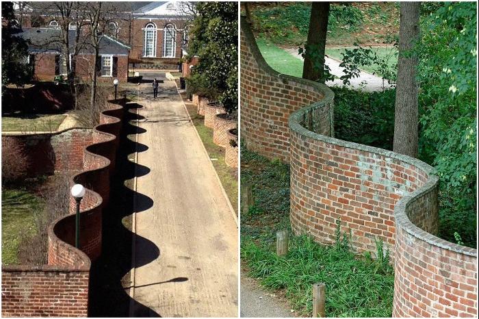 Британцы строят волнистые заборы, которые не уступают в крепости обычным, а кирпичей требуют в 2 раза меньше