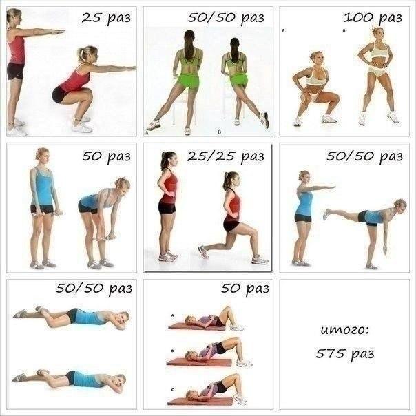 Лучшее упражнение для похудения ног