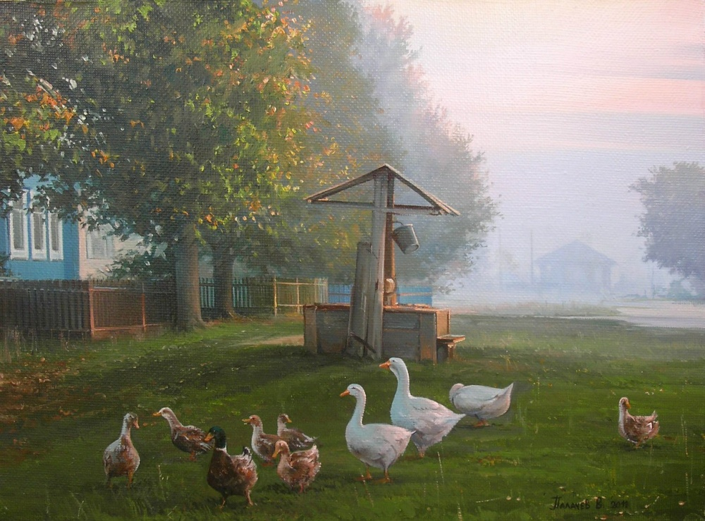 правильно деревенское утро картинки большой интерес