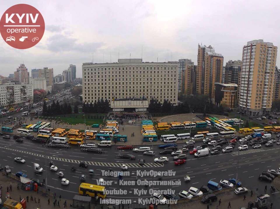 Митинг в Киеве: демонстранты…
