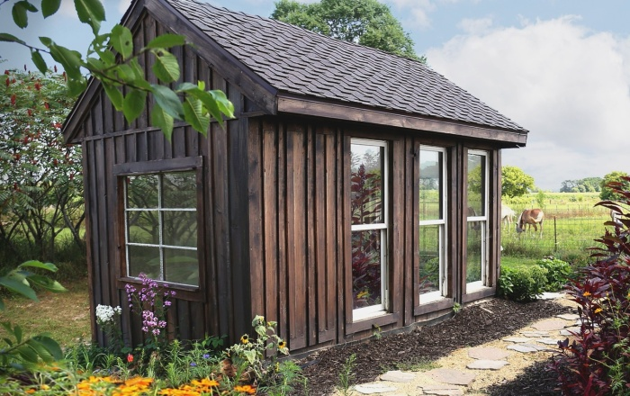 6 забавных садовых домиков-офисов, оформленных по мотивам телешоу и фильмов для дома и дачи,идеи и вдохновение