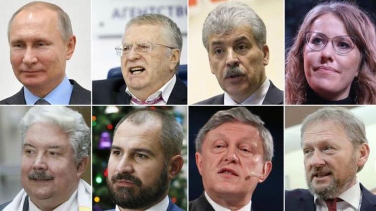 Кандидаты в президенты России. Инфографика