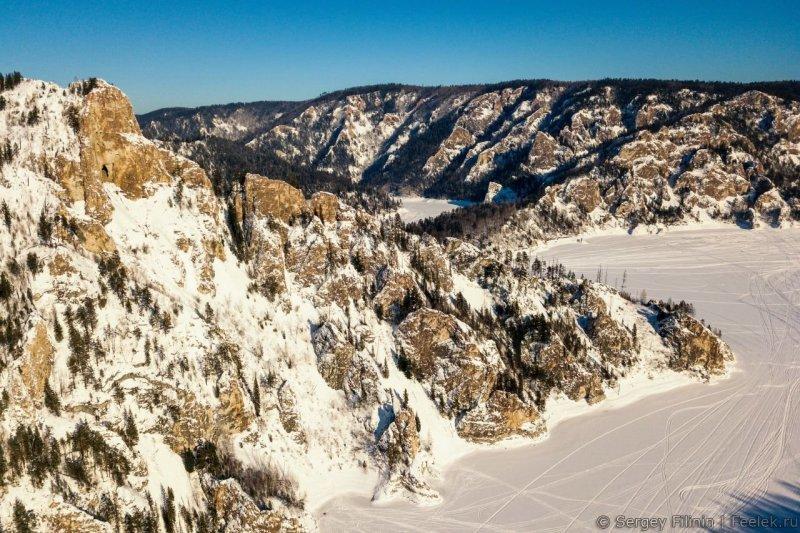 Козыреевский зуб - лучшая смотровая площадка Красноярского моря Красноярский край, высота, гора, красноярск, пейзаж, пещера, природа, фото