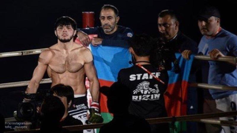 Азербайджанский боец выиграл турнир в Японии со сломанной рукой