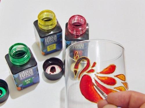 Мастер-класс по красивой росписи бокала мастер класс