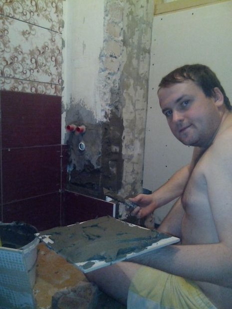 """Ванная: """"Боевое настроение и жена под боком - вот залог успеха!"""" идеи для дома,ремонт и строительство"""