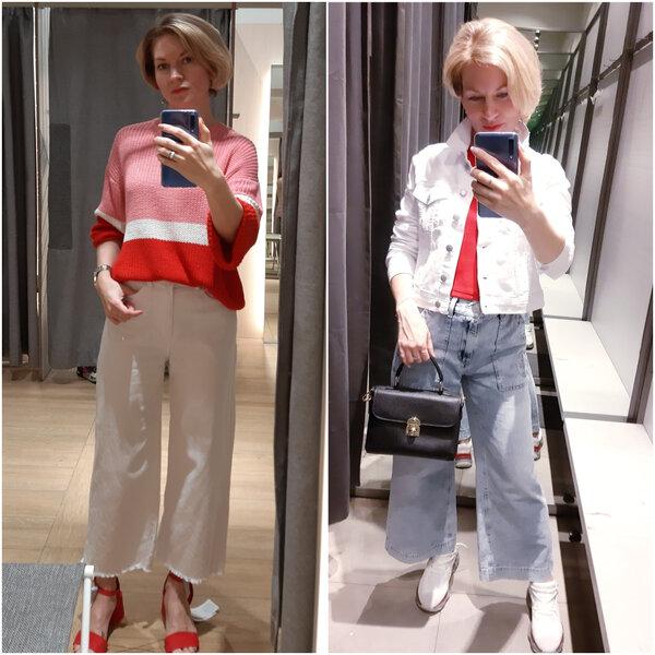 Первые джинсы не помню откуда, а вторые с Глории Джинс
