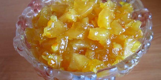 Варенье из яблок и апельсина