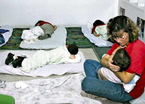 Фото дети в детском саду спят на улице