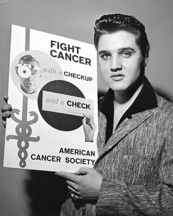 Элвис помогал деньгами Американскому онкологическому обществу.